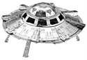 Picture of UFO 3D Metal Model Kit