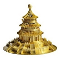 Picture of The Temple Of Heaven Gold Deluxe 3D Metal Model Kit