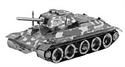 Picture of T-34 Tank 3D metal Model Kit