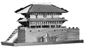 Picture of Sungnyemun Gate Deluxe 3D metal Model Kit