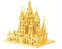 Picture of St. Basil's Cathedral Gold Deluxe 3D Metal Model Kit
