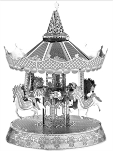 Picture of Merry-Go-Round Deluxe 3D Metal Model Kit