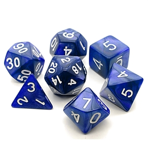 Picture of 7-Set Polyhedral Pearl Dice