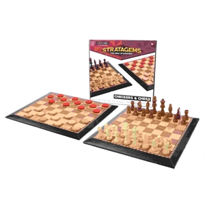 Picture of Chess/Checkers 31cm Wooden Game