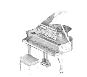 Picture of Piano Deluxe 3D Metal Model Kit