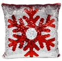 Picture of Sequin Pillow Snowflake